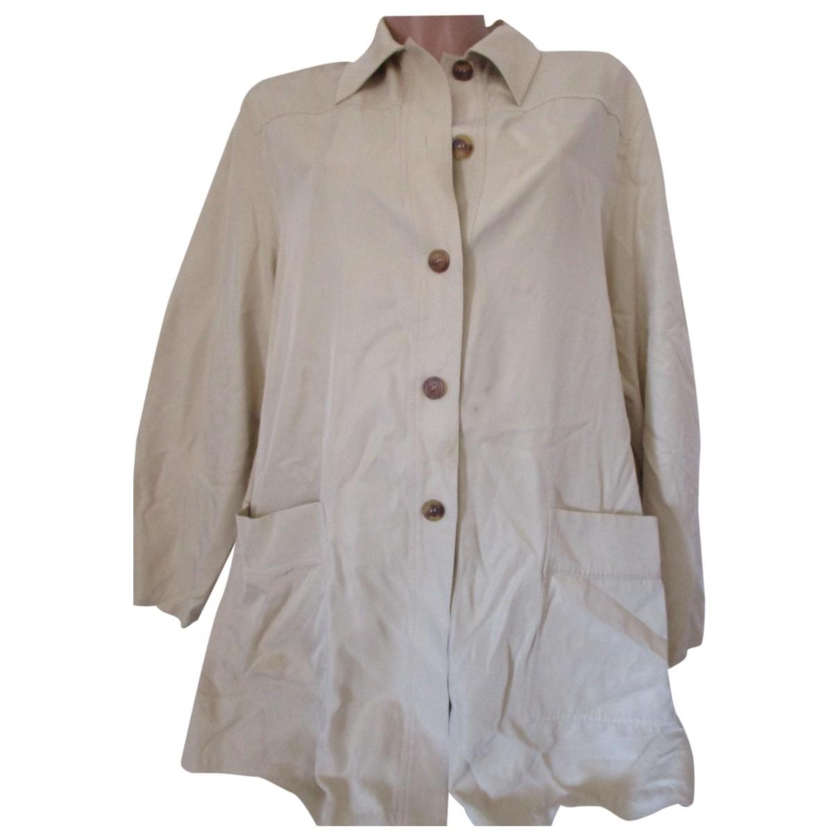 Krizia - Veste   pour femme en soie - beige