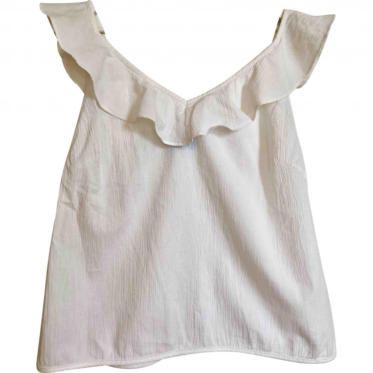 Mih Jean - Top   pour femme en coton - blanc