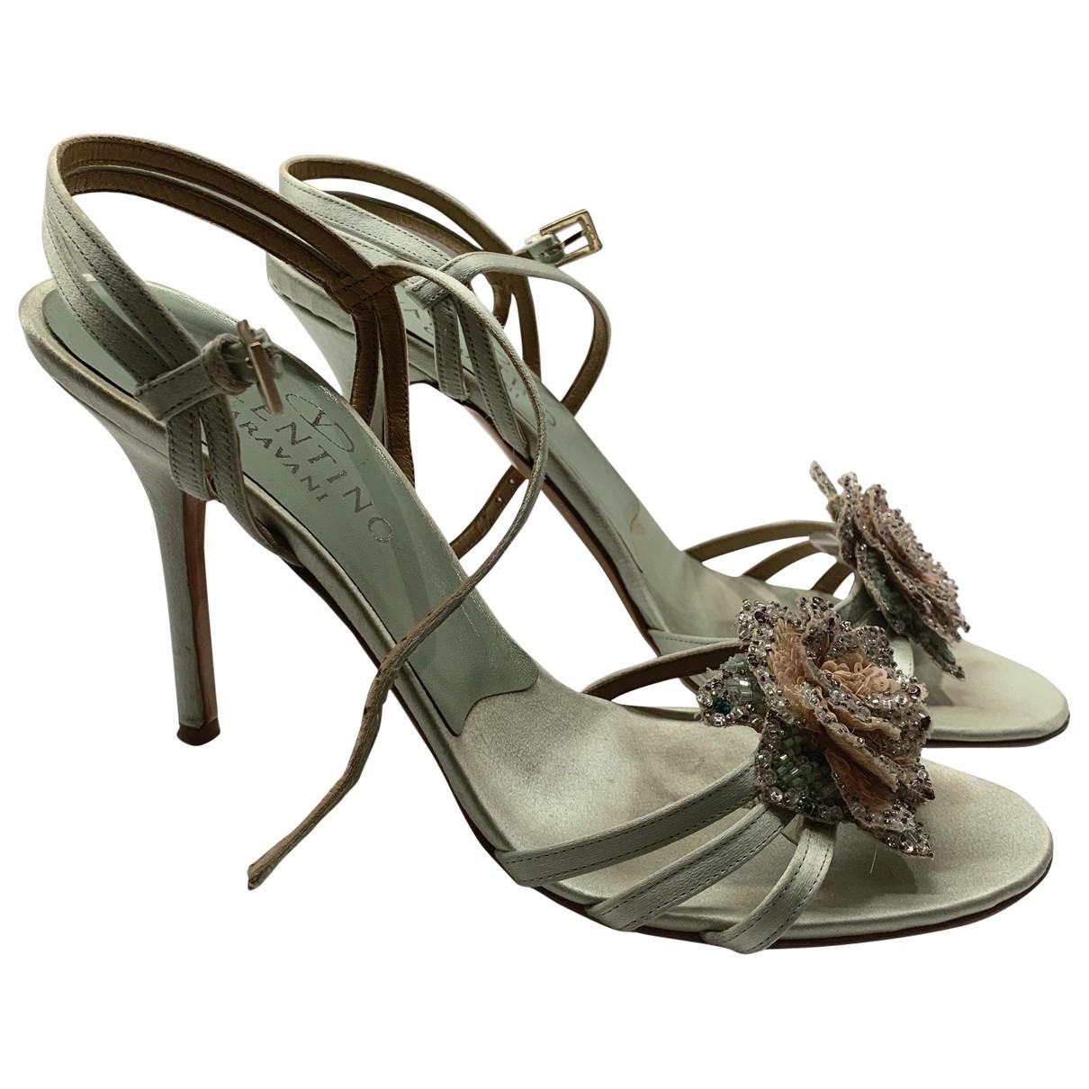 Valentino Garavani \N Green Cloth Sandals for Women 38.5 EU