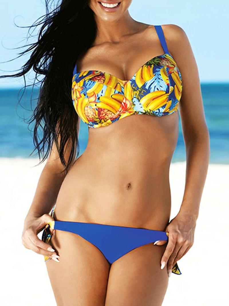 Ericdress Color Block Bikini Set Sexy Swimwear