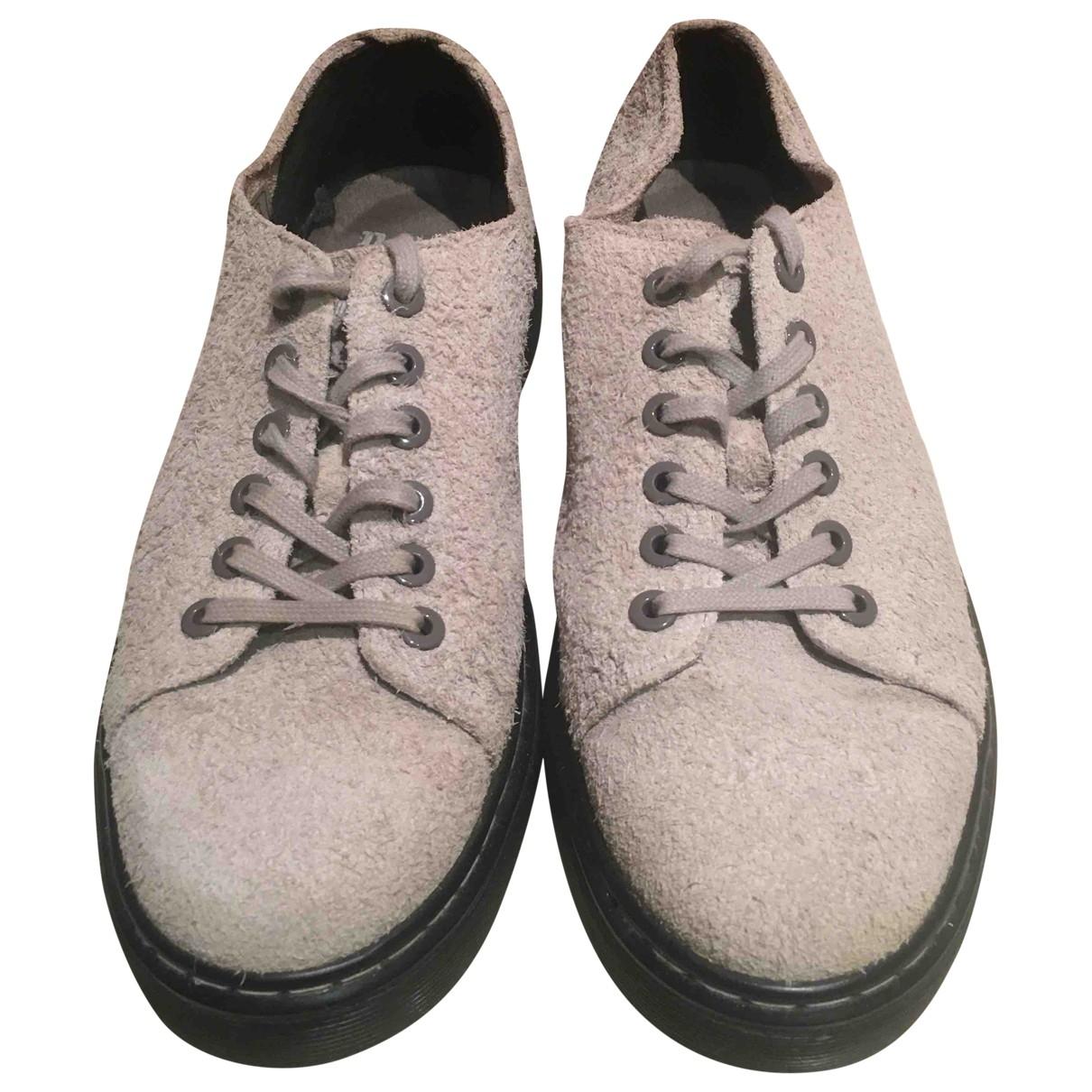 Dr. Martens - Baskets   pour homme en cuir - gris