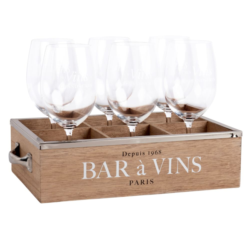 Set aus 6 Weinglaesern