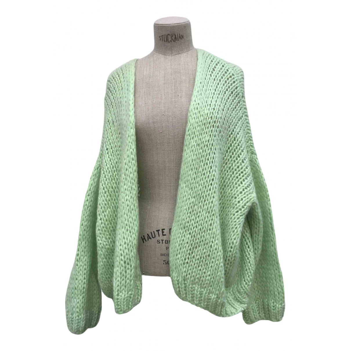 Leeandme - Pull   pour femme en laine - vert