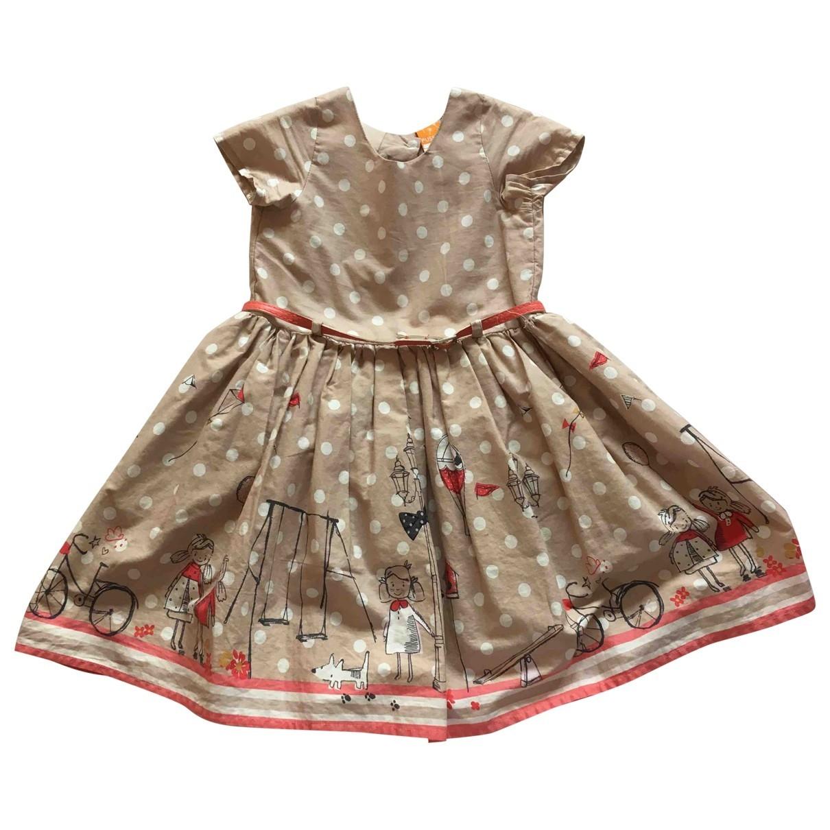 - Robe    pour enfant en coton - beige