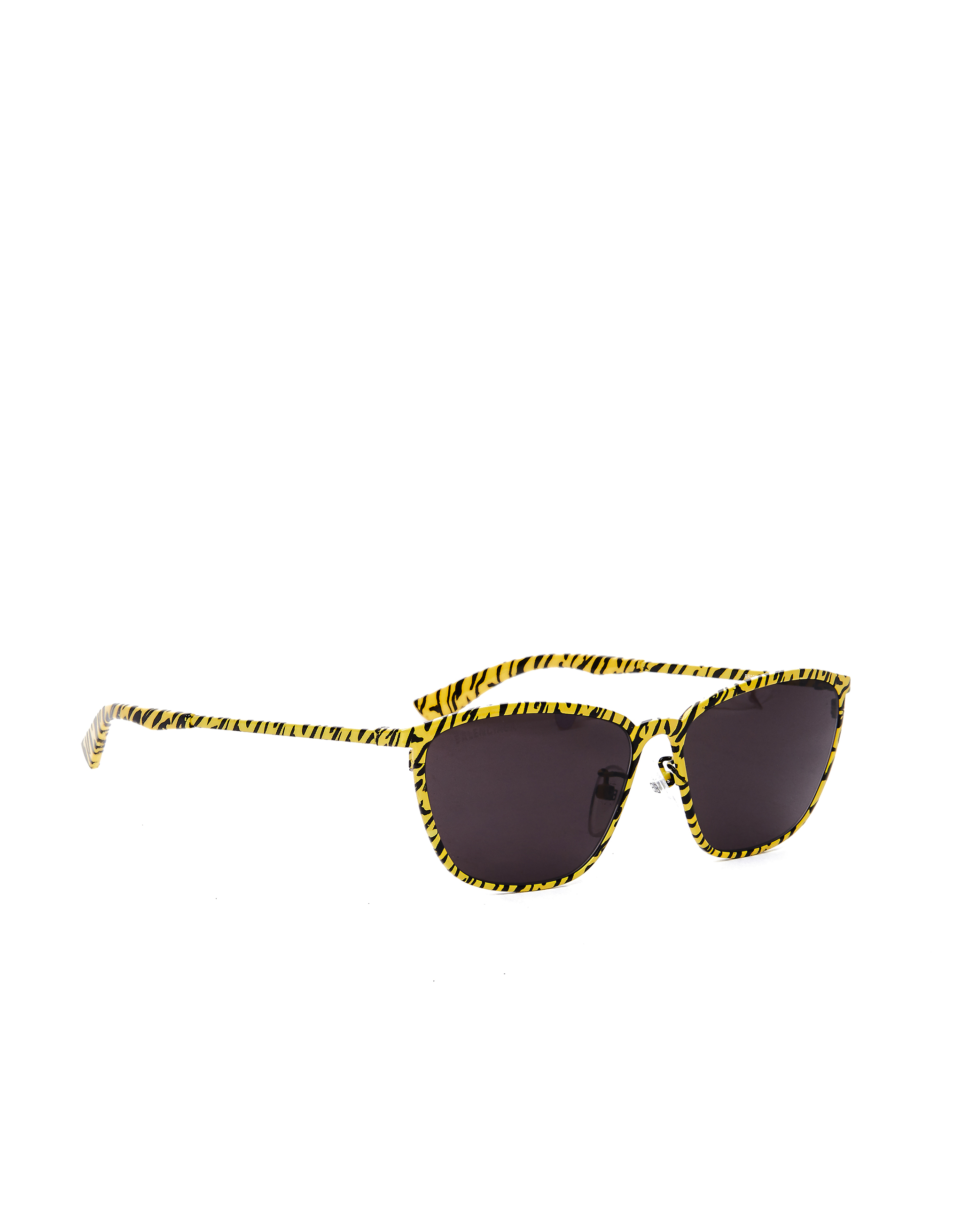 Balenciaga Yellow Zebra Printed D-Frame Sunglasses