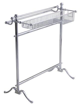 Essentials 53516CR Freestanding Floor with Basket Towel Holder 33 1/2
