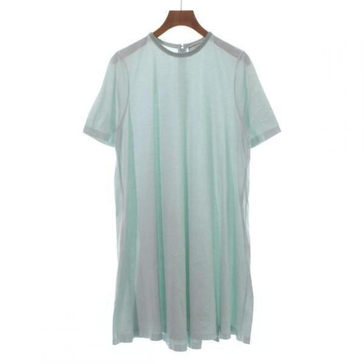 Balenciaga - Robe   pour femme en coton - bleu