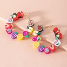 Fruit Decor Hoop Earrings