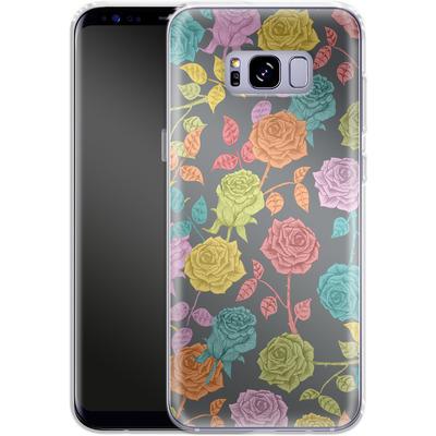 Samsung Galaxy S8 Plus Silikon Handyhuelle - Roses von Bianca Green
