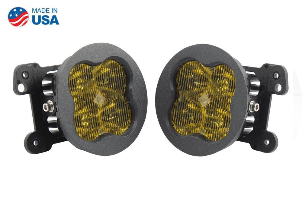 Diode Dynamics DD6195-ss3fog-1635-GBFG SS3 LED Fog Light Kit for 2007-2018 Jeep JK Wrangler Yellow SAE/DOT Fog Sport