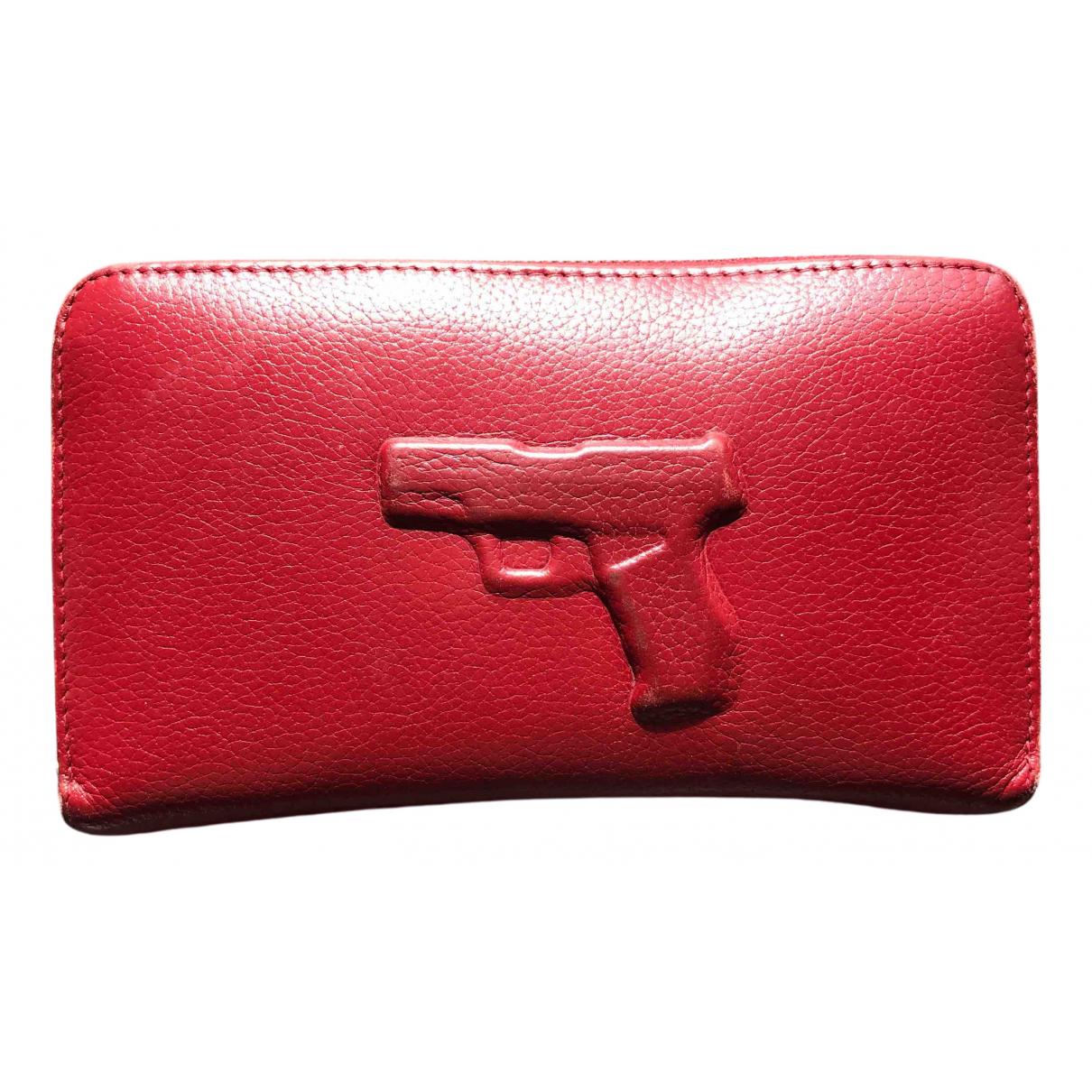 Vlieger & Vandam N Red Leather wallet for Women N