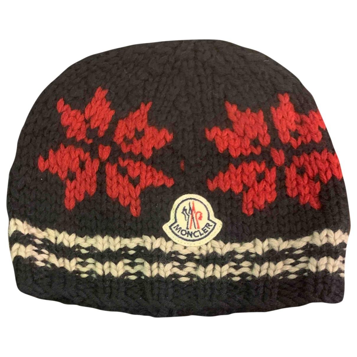 Moncler - Chapeau   pour femme en laine - noir