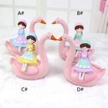 1pc Swan Girl Decorative Object