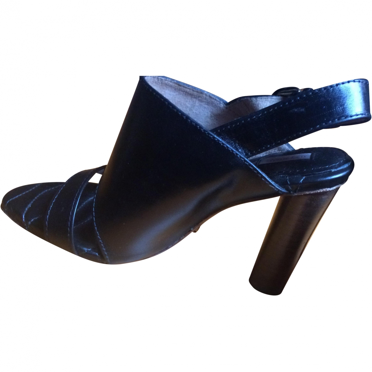 Uterque \N Black Leather Sandals for Women 38 EU