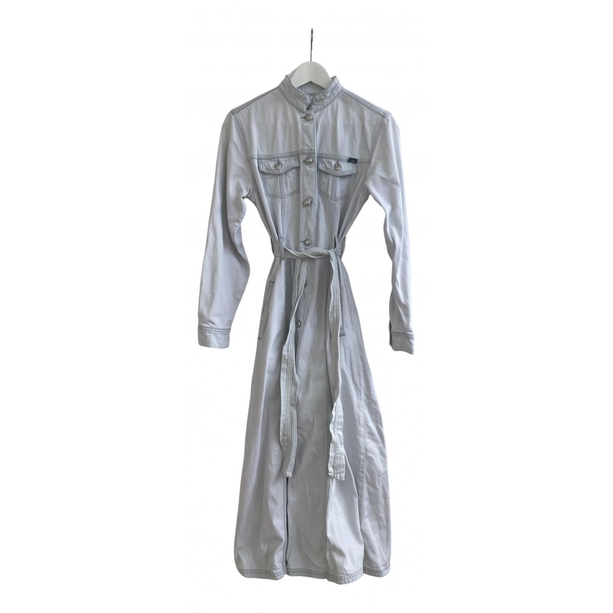 Won Hundred - Robe   pour femme en denim - bleu