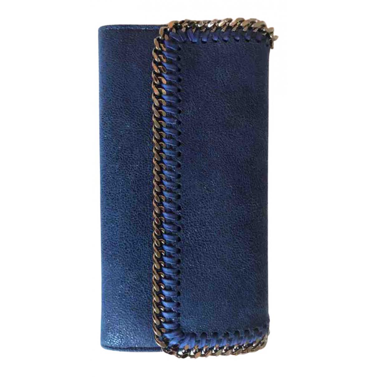 Stella Mccartney - Petite maroquinerie Falabella pour femme en cuir - bleu