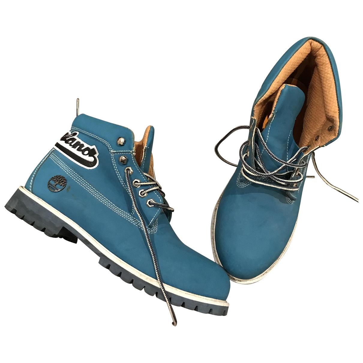 Timberland \N Stiefel in  Blau Leder