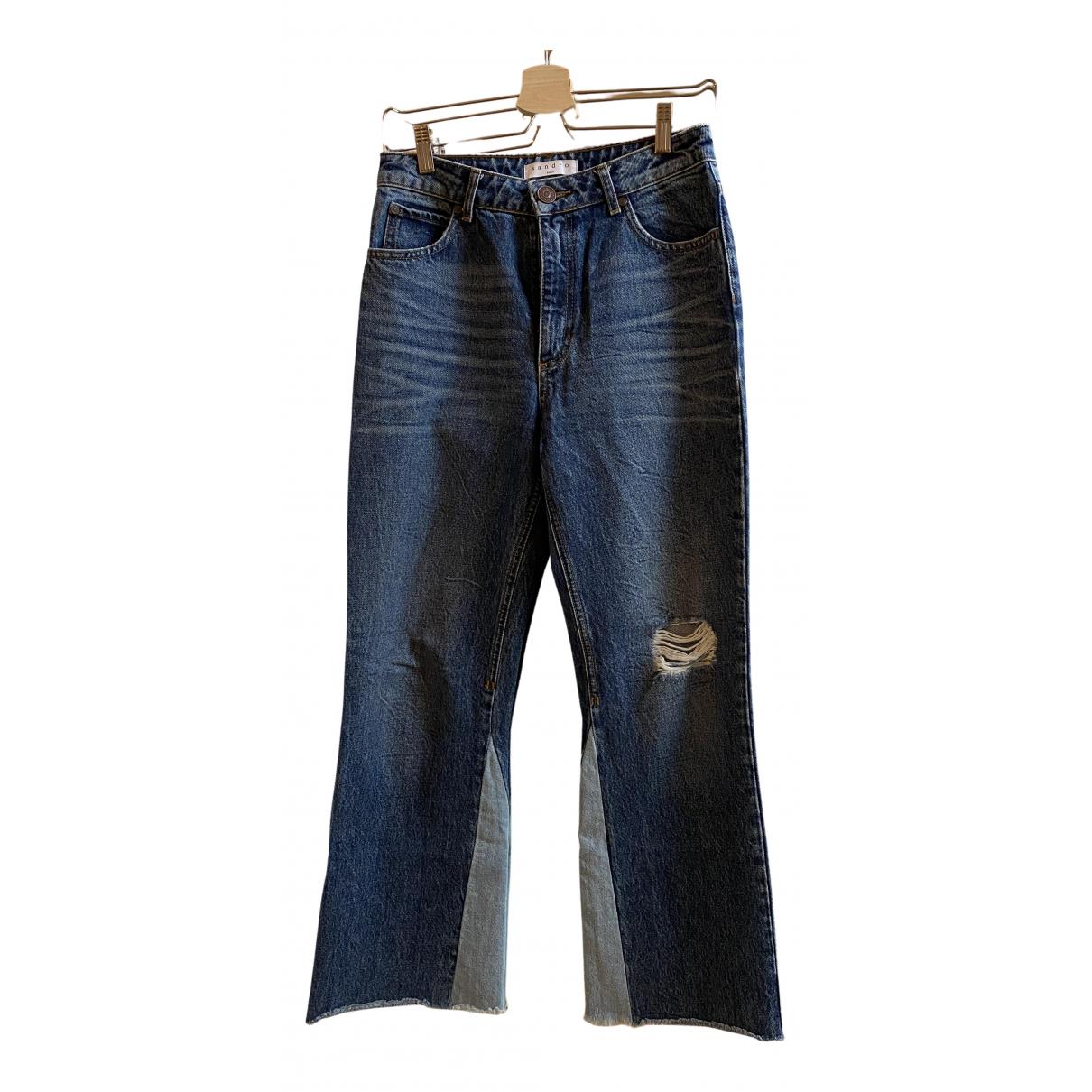 Sandro N Blue Cotton Jeans for Women 38 FR