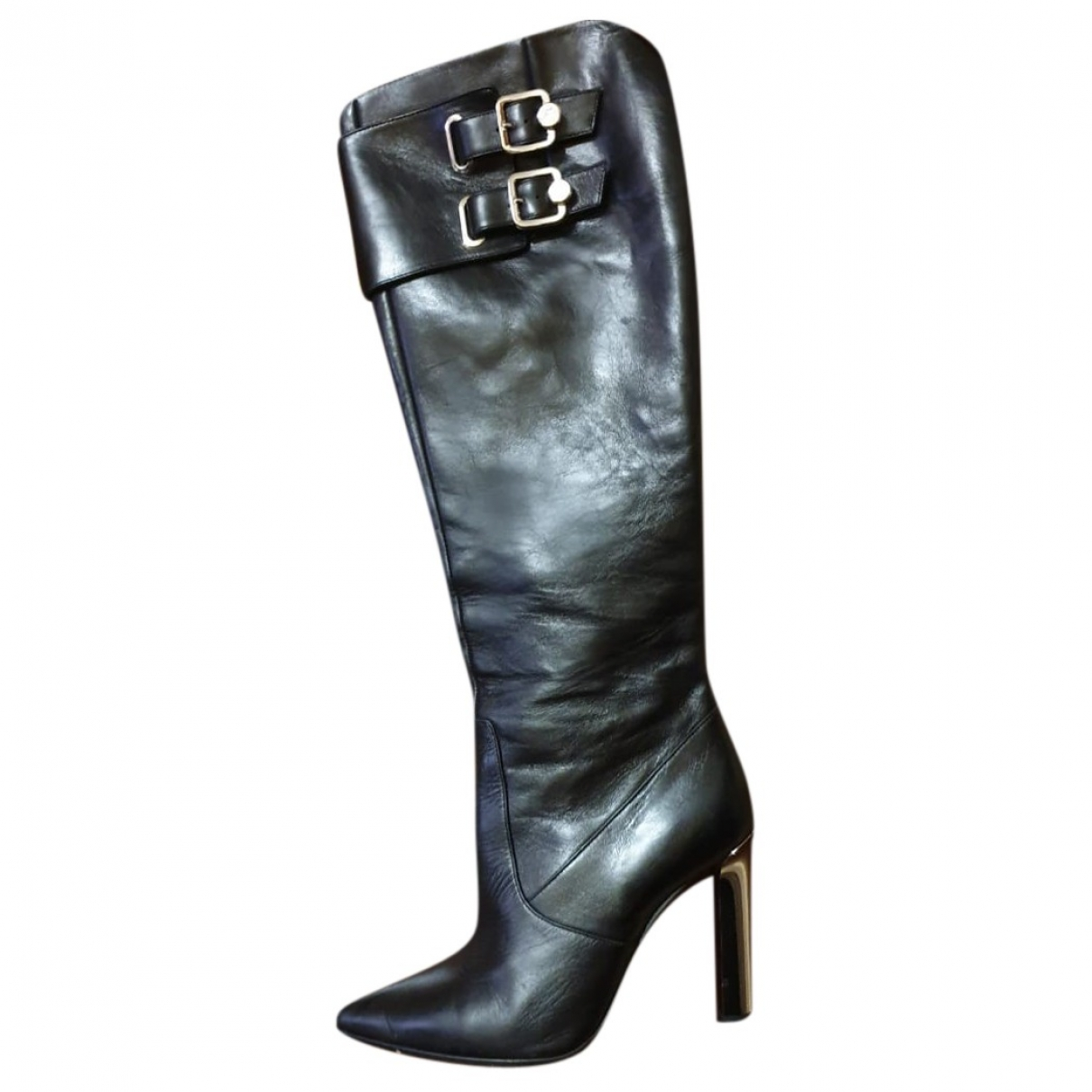 Versace - Bottes   pour femme en cuir - noir