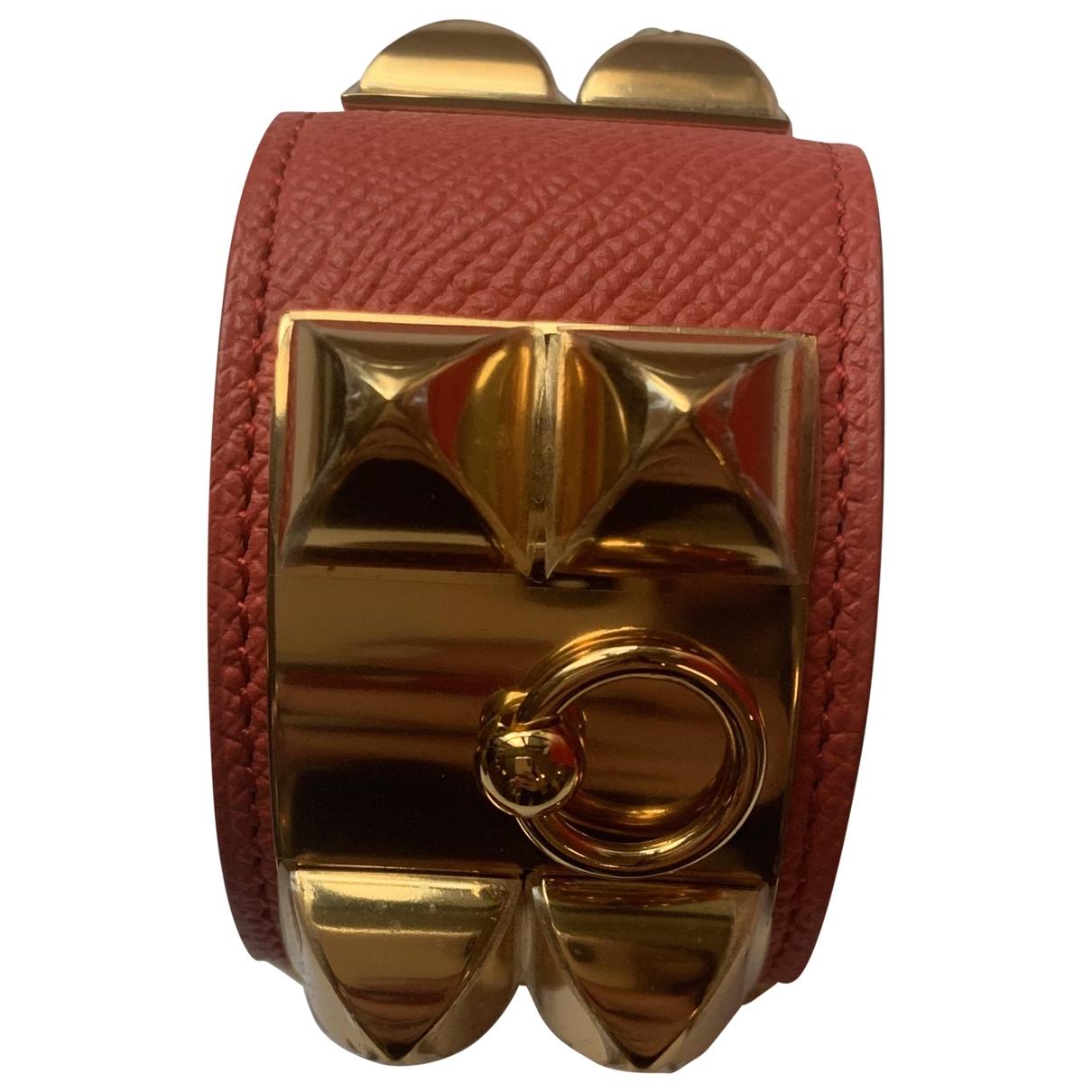 Hermès Collier de chien  Pink Leather bracelet for Women \N
