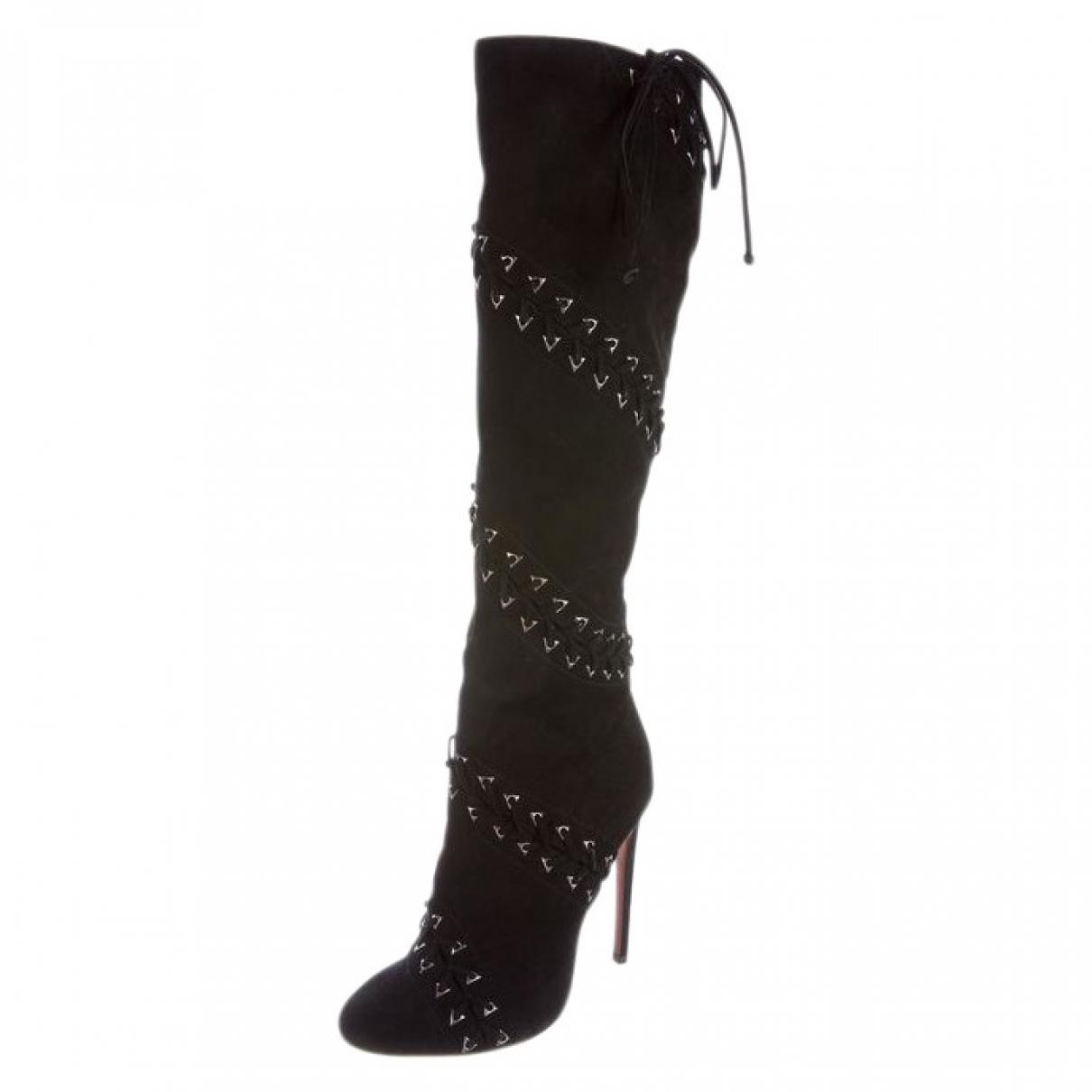 Alaïa N Black Suede Boots for Women 38 EU