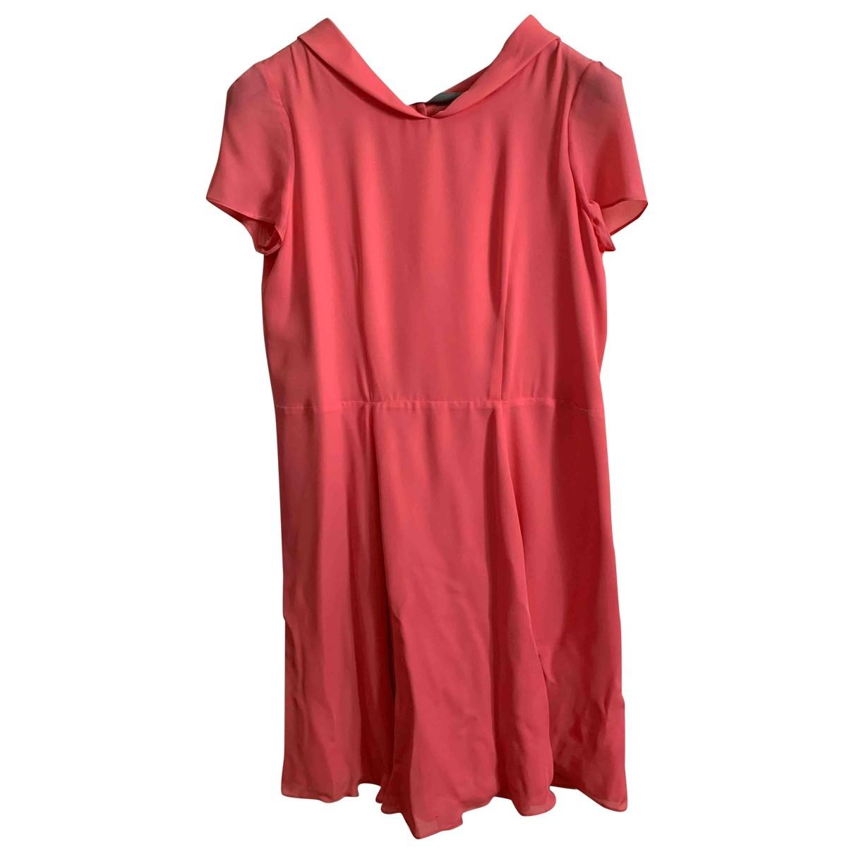 Emporio Armani - Robe   pour femme en soie - rose