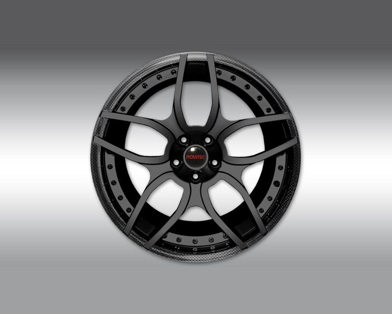 Novitec L4 111 08 NL1 Forged Rear Wheel Custom Color and Carbon Coated Outer Lip 21x13 Lamborghini Aventador 12-19