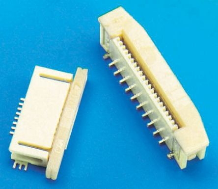 Molex Easy-On 52437 Series 0.5mm Pitch 27 Way Right Angle SMT Female FPC Connector, ZIF Bottom Contact (10)