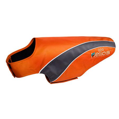 The Pet Life Helios Octane Softshell Neoprene Satin Reflective Dog Jacket w/ Blackshark technology, One Size , Orange