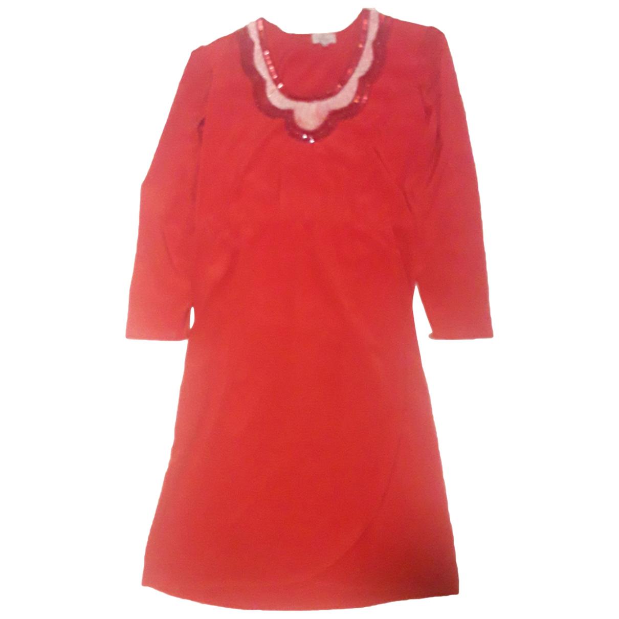 Valentino Garavani - Robe   pour femme en soie - rouge
