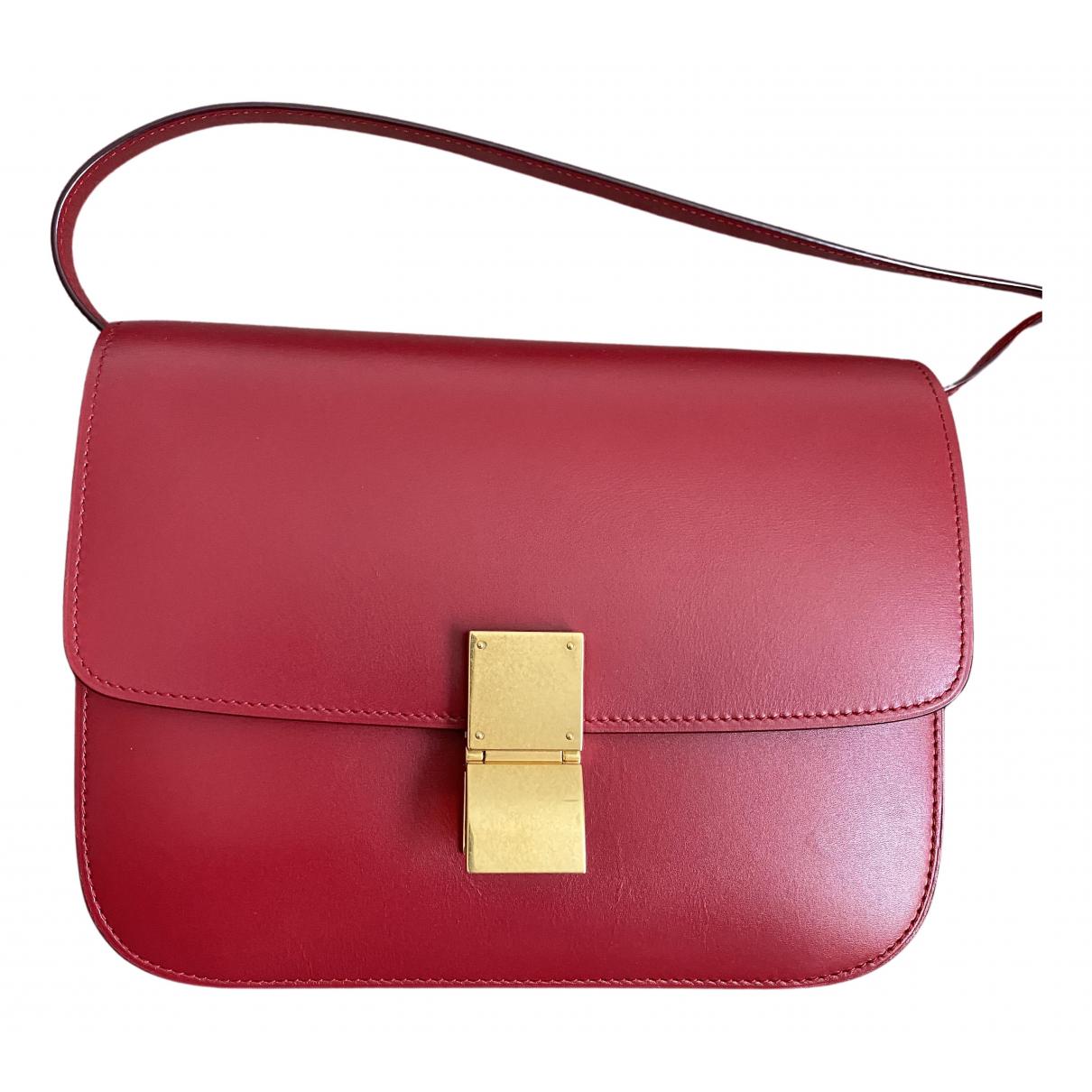 Celine - Sac a main Classic pour femme en cuir - rouge