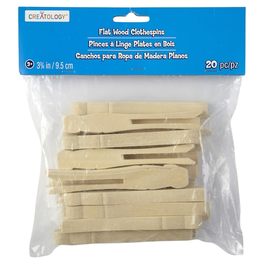 Creatology™ Flat Wood Clothespins, Large | Michaels®