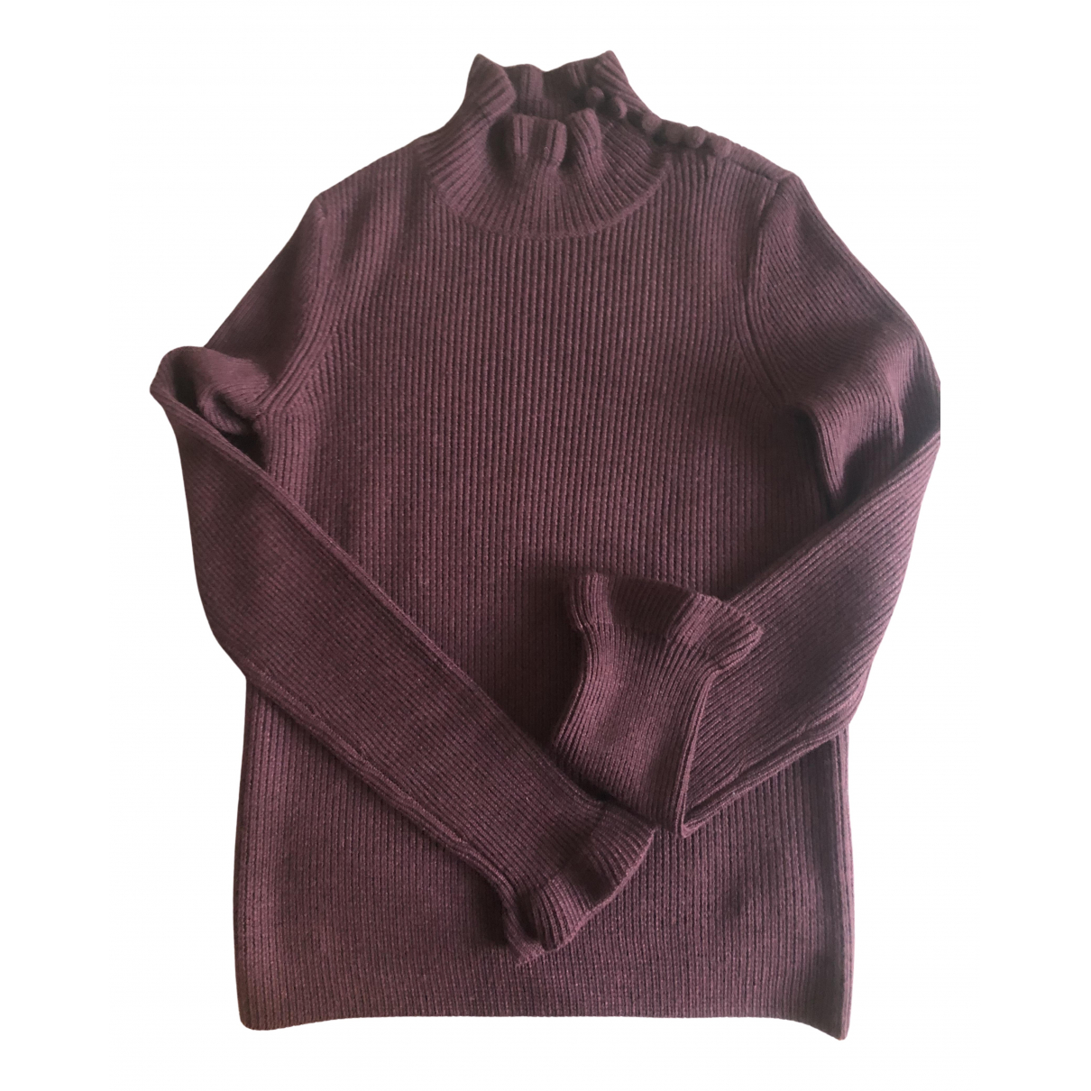 See By Chloe - Pull   pour femme en laine - bordeaux