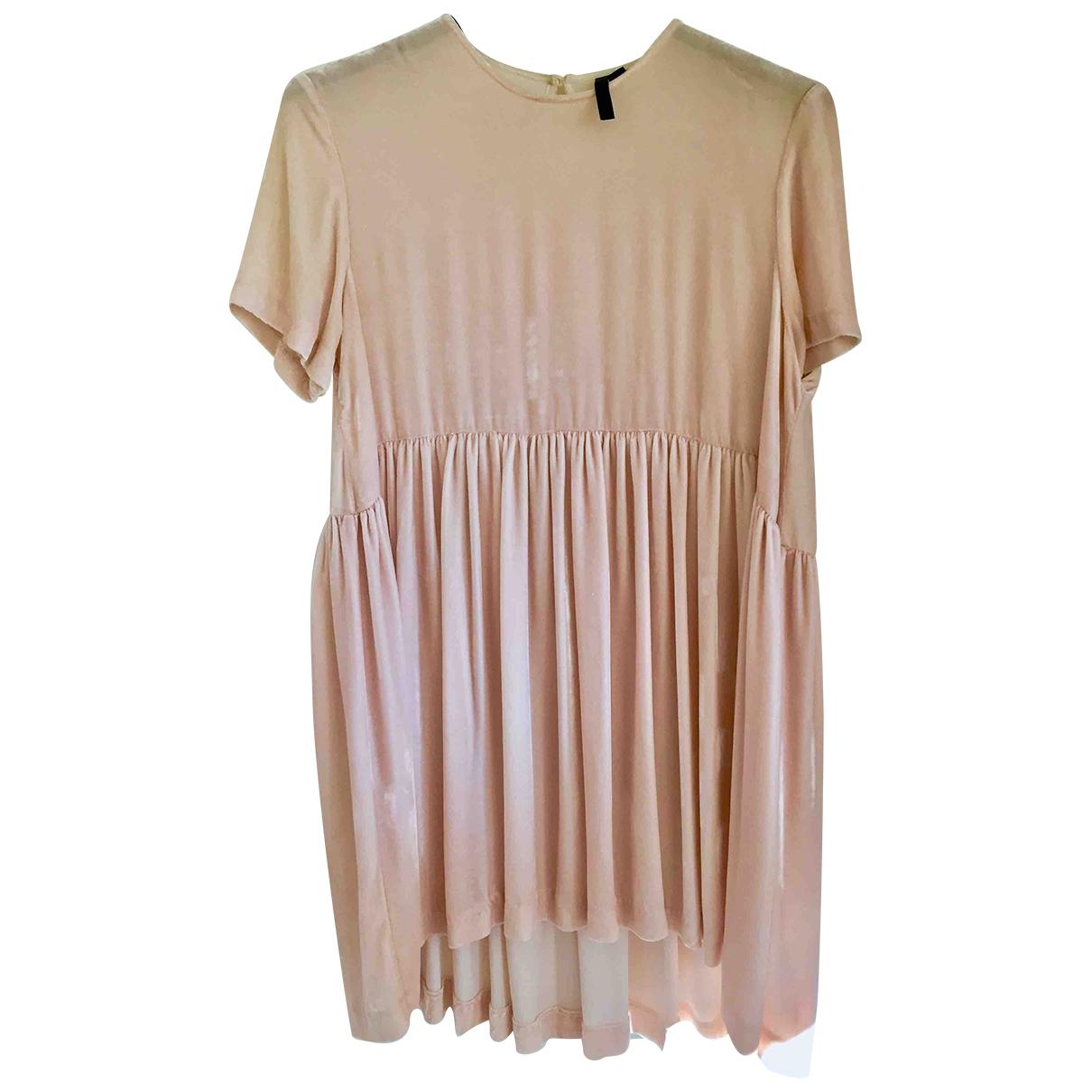 Tophop Boutique \N Kleid in  Rosa Seide