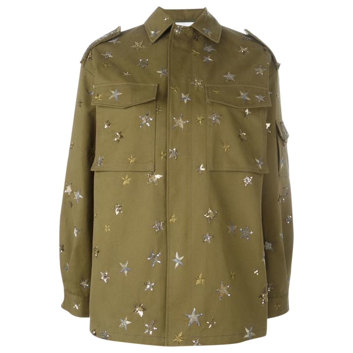 Valentino Garavani \N Green Cotton jacket for Women 36 IT