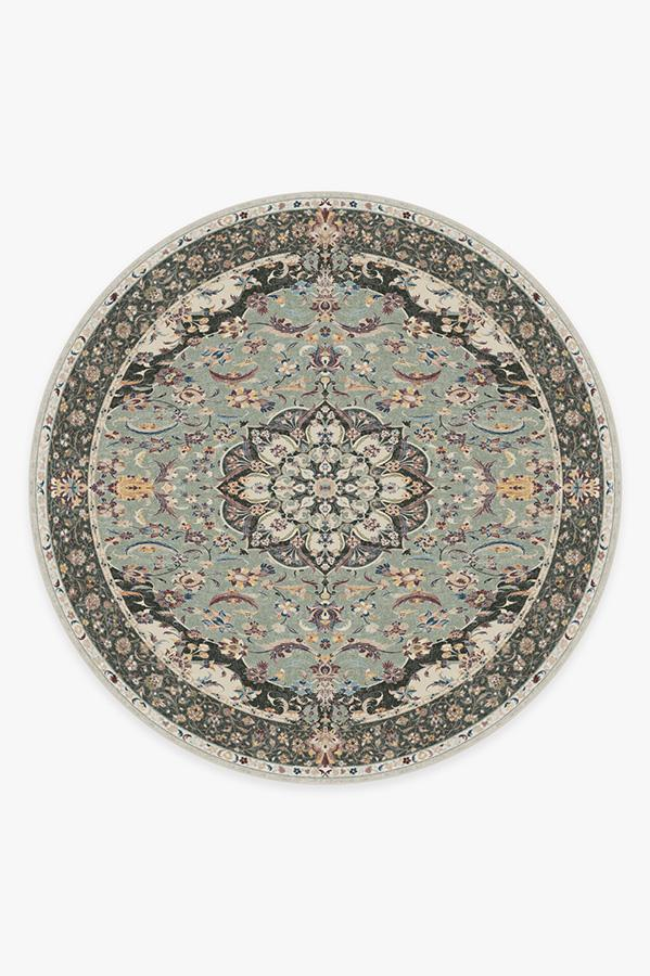 Washable Rug Cover | Sima Sage Rug | Stain-Resistant | Ruggable | 8' Round