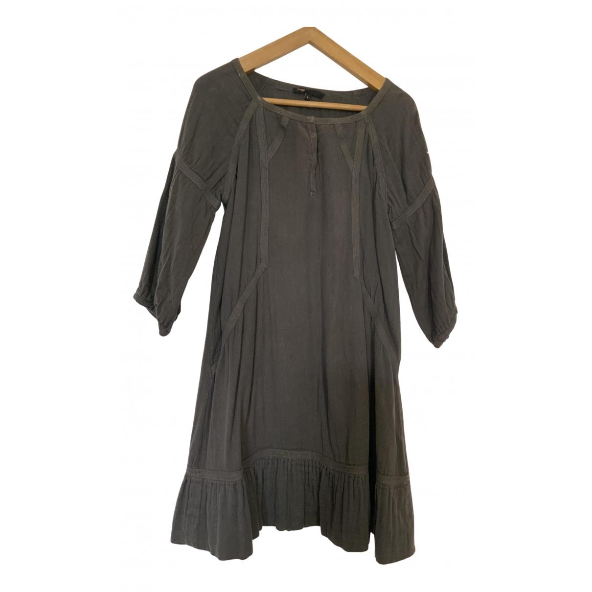 Maje \N Kleid in  Grau Baumwolle