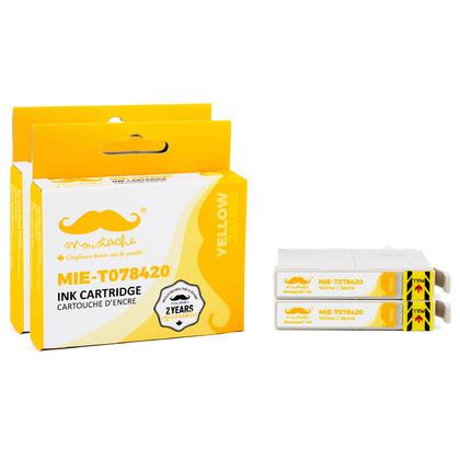 Compatible Epson 78 T078420 cartouche d'encre jaune - Moustache@ - 2/paquet