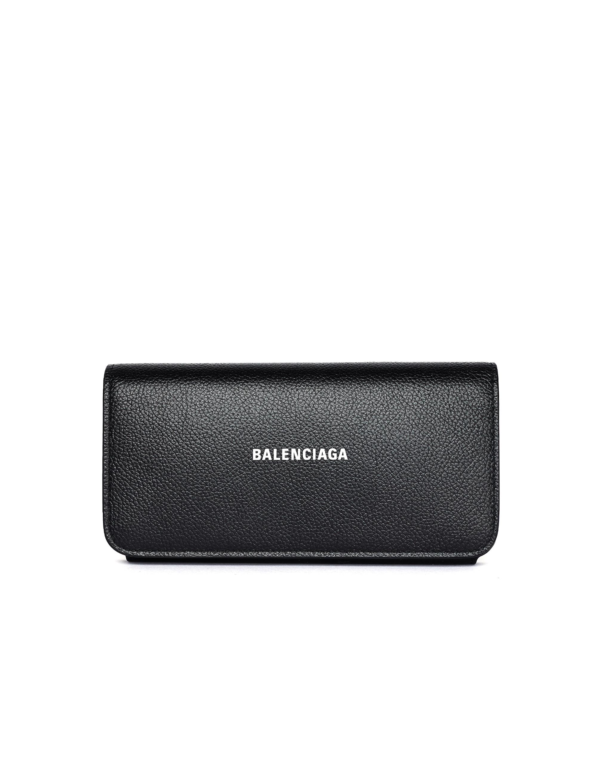 Balenciaga Black Leather Cash Wallet