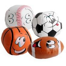 4 Stuecke Kleinkind Ball Spielzeug mit Karikatur Grafik