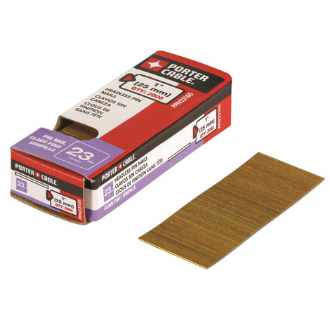 Porter-Cable 1 In. 23 Gauge Pin Nails 2000 pack