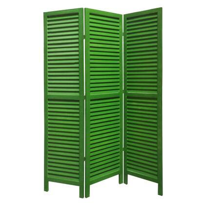 BM205394 3 Panel Foldable Wooden Shutter Screen with Straight Legs