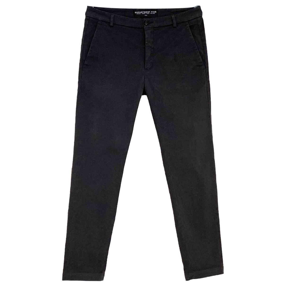 Pantalones en Algodon Antracita Department 5