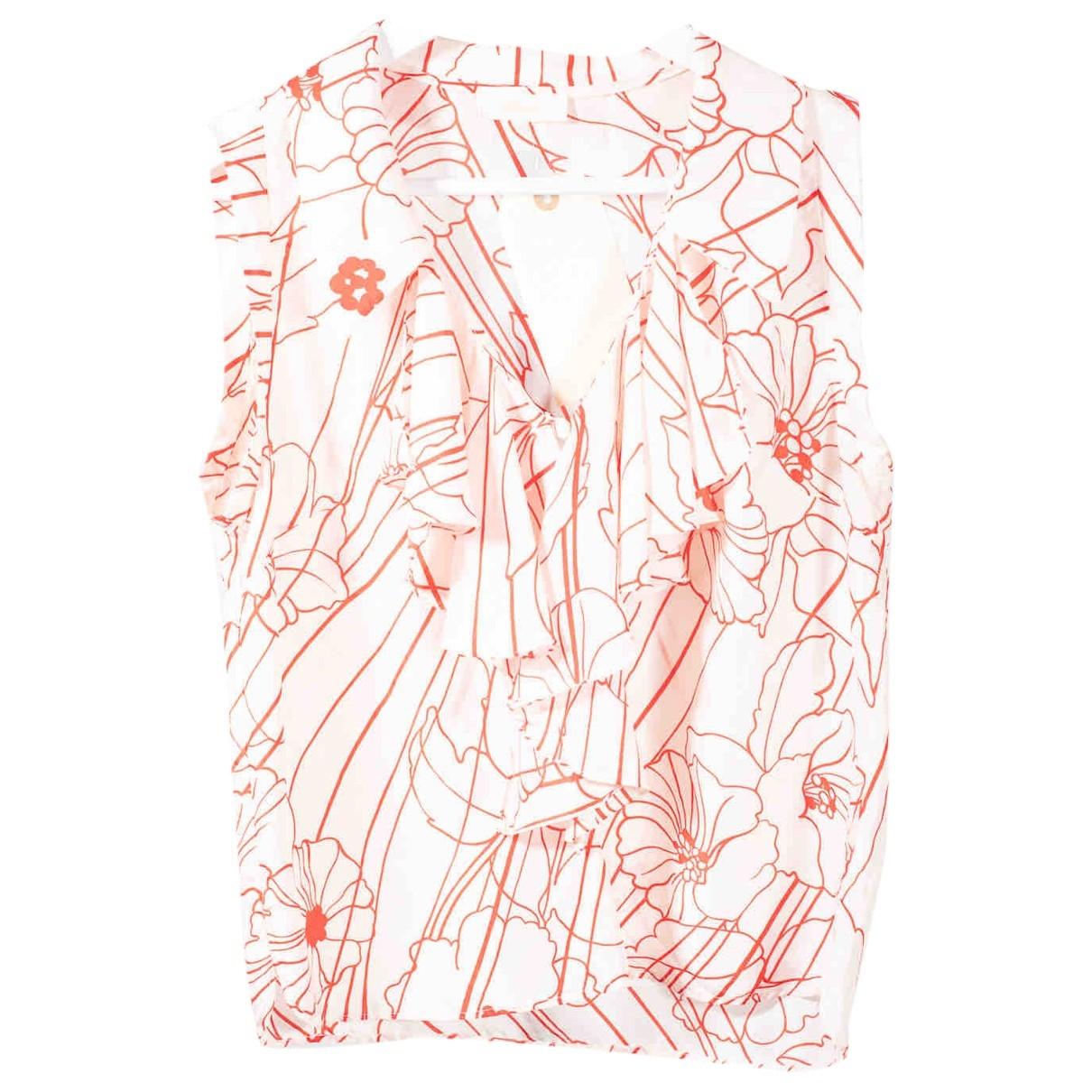 Brioni - Top   pour femme en soie - blanc