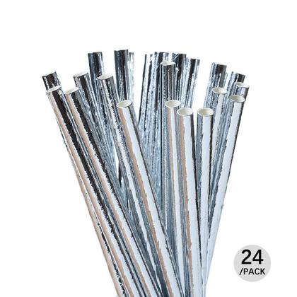Parti jetable boire des pailles de papier pour la célébration et les fêtes, 24Pcs - Livingbasics™