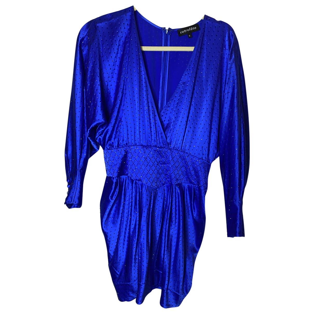 Retrofete \N Kleid in  Blau Seide