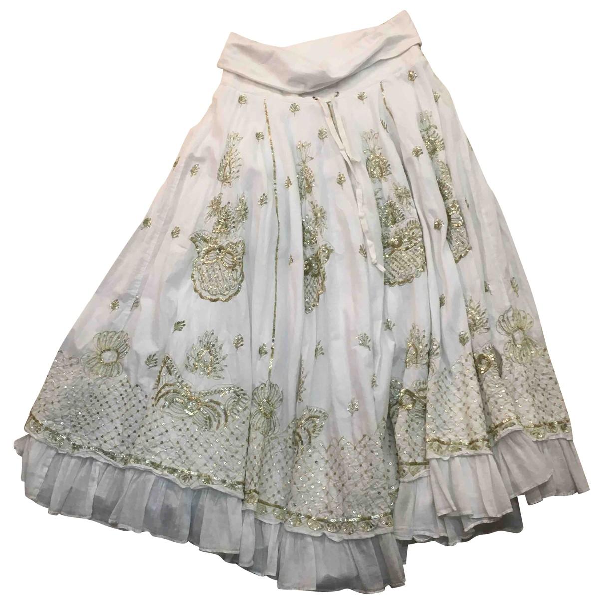 Parosh - Jupe   pour femme en coton - blanc