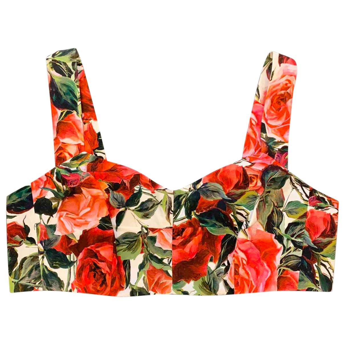 Dolce & Gabbana - Top   pour femme en coton - rouge