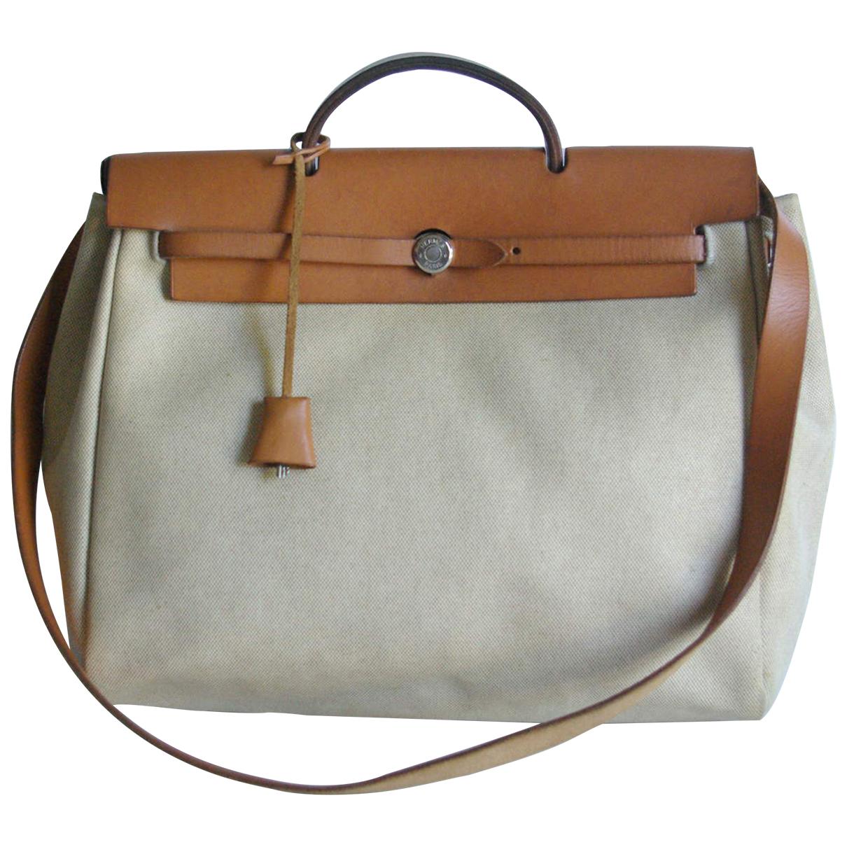 Hermès Herbag Ecru Cloth handbag for Women N
