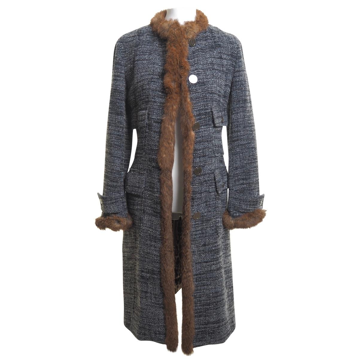 Dolce & Gabbana - Manteau   pour femme en laine - bleu